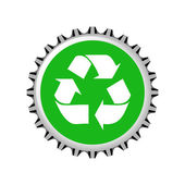 Recycle Cap Illustration — Vettoriale Stock