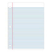 Notebook Paper Illustration — Stock Vector
