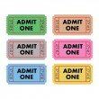Admit One Tickets — Stock Vector #3056183