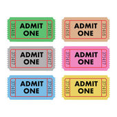 Admit One Tickets — Stock Vector