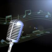 Retro Microphone — Stock Photo