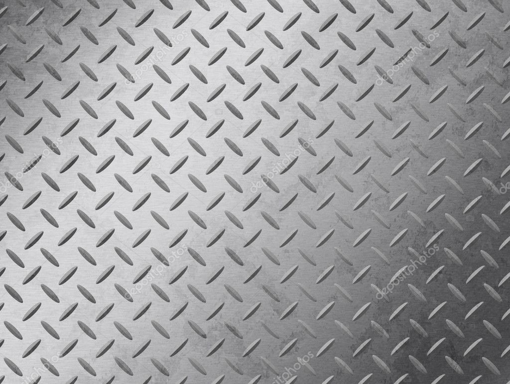 Image of a grungy diamond plate texture.  Stock Photo #3120009