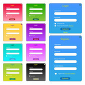 Colorful Web Forms — Stock Vector