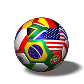 Soccer Ball Flags — Stock Photo