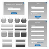 Grey Web Template — Stock Vector