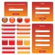 Red and Orange Web Template - Stock Vector