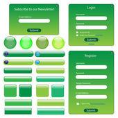 Grön webbmall — Stockvektor