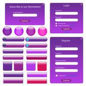 Paarse websjabloon — Stockvector