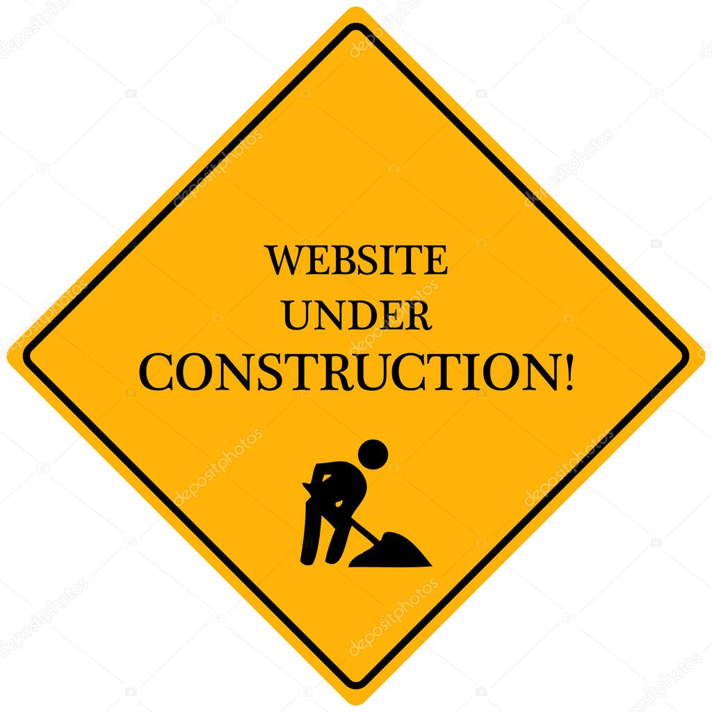 Website under construction stock illustration