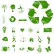 Grunge Eco Icons — Stock Vector