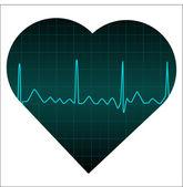 Heart monitor — Stockvektor