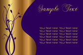 Purple and Gold Sample — Stock Vector