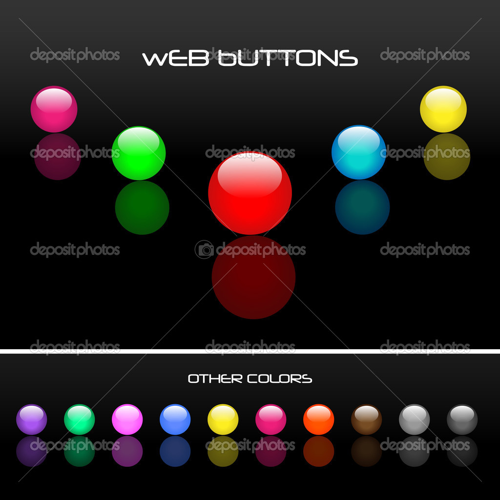 Round Web Buttons  Stock Vector #3285289