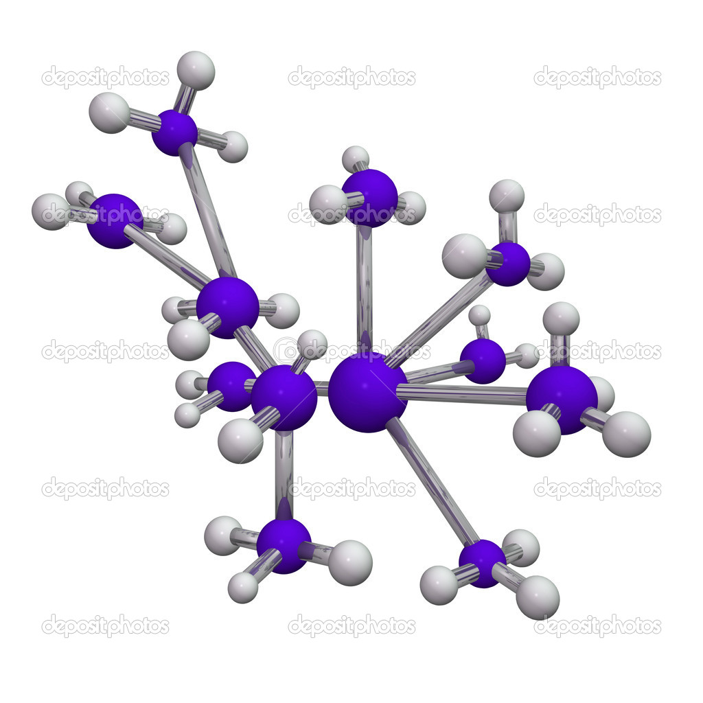 Abstract image of a molecule isolated on a white background.  Stock Photo #3302722