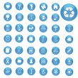 Blue Web Buttons — Stock Vector #3393516
