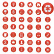 Red Buttons — Stock Vector