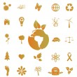 Eco and Green Icons — Stock Vector