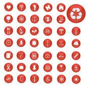 Boutons rouges — Vecteur