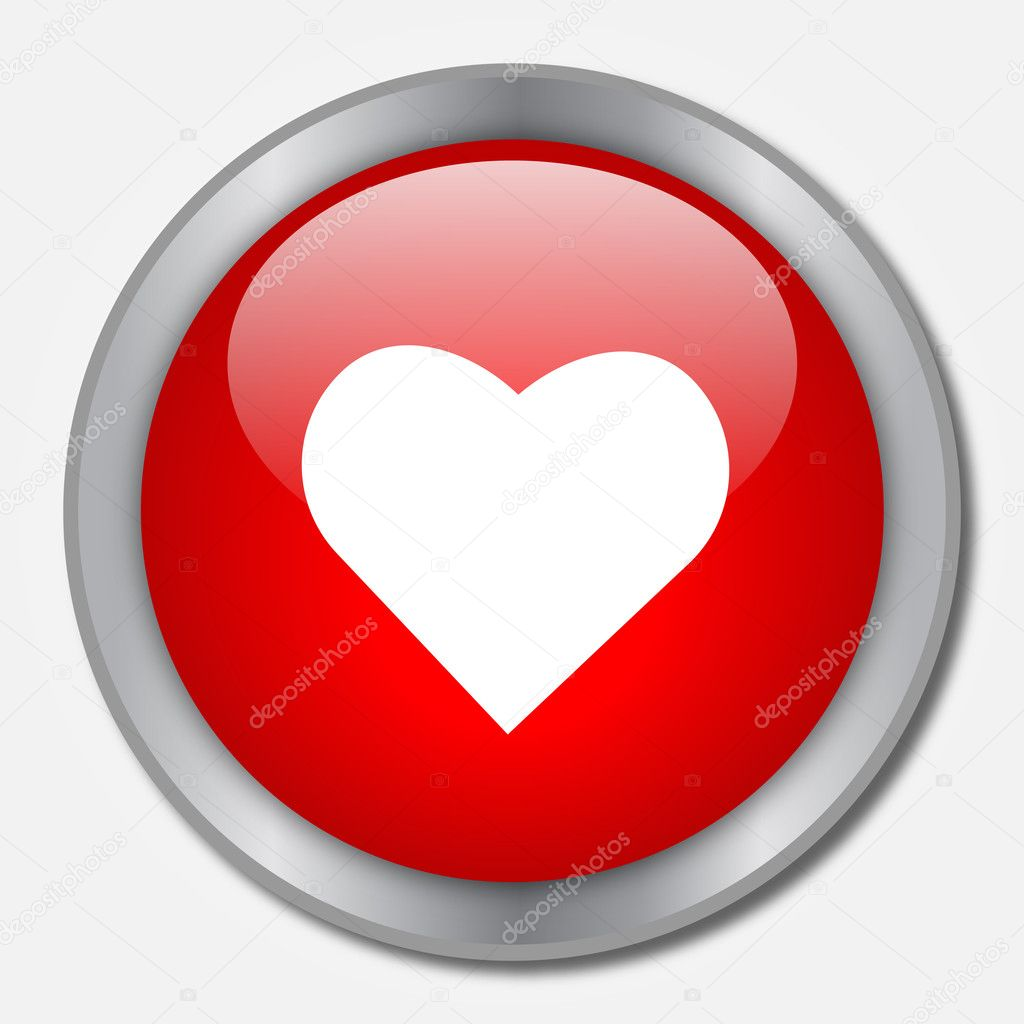 Heart Button  Stock Vector #3436240