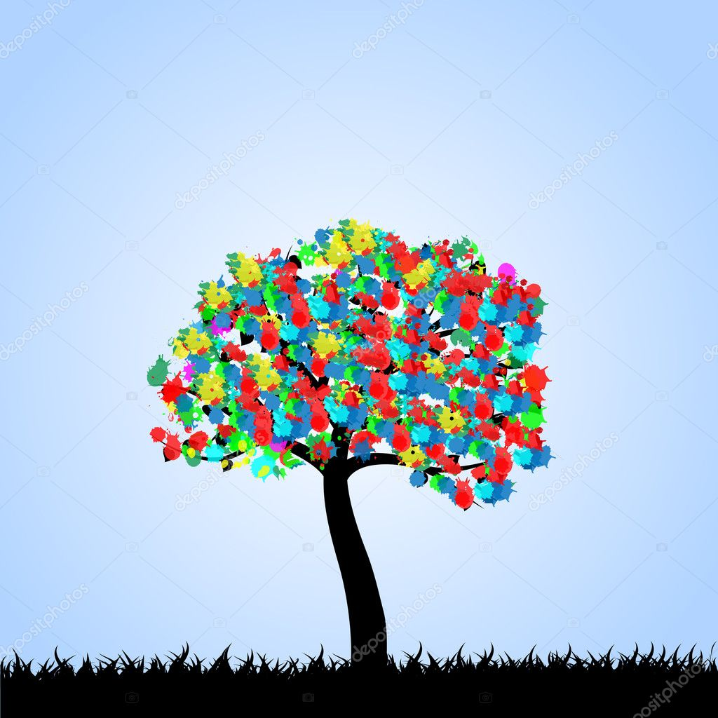 Tree Illustration - Stock Illustration
