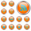 Orange Web Buttons — Imagen vectorial