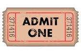 Vintage Ticket — Stock Vector