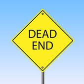 Dead End Sign — Stock Vector