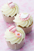 Cupcakes for a baby shower — Stock Photo
