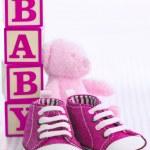 Розовая детская обувь — Стоковое фото