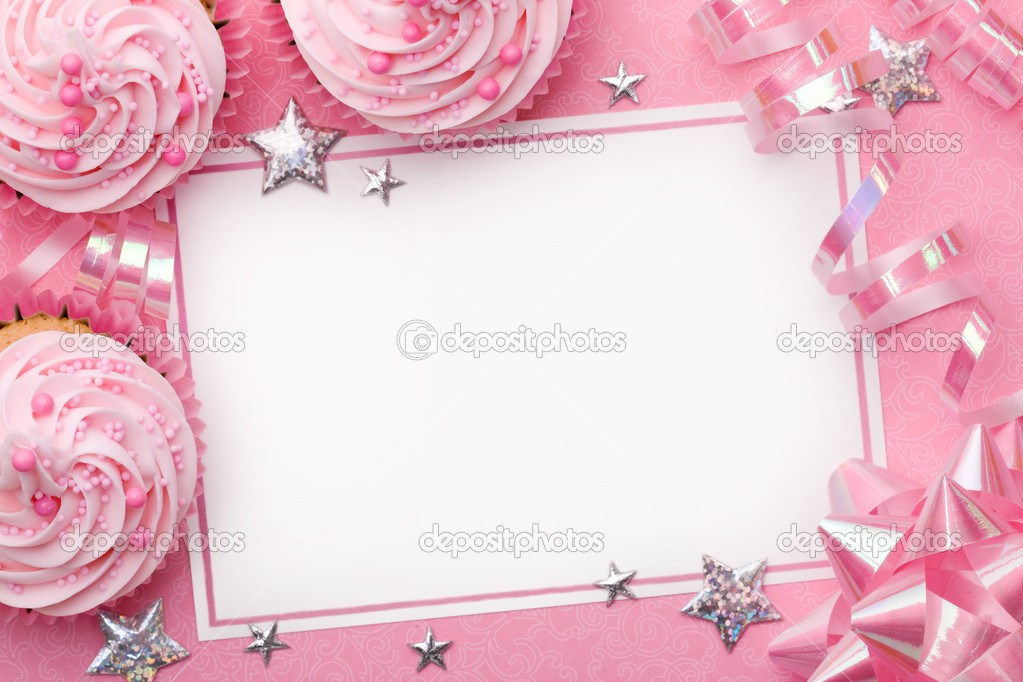 Pink party background with space for copy — Stock Photo #3013635