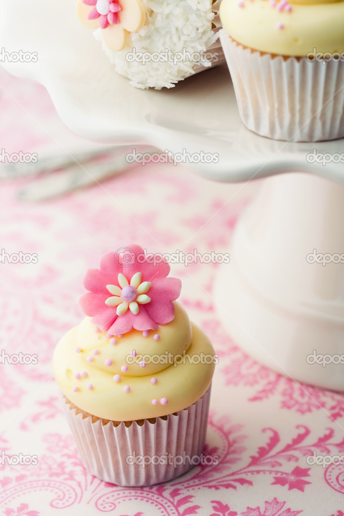 Cupcakes on a cakestand  Stock Photo #3276226