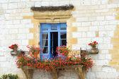 красивые средиземноморские окна — Стоковое фото