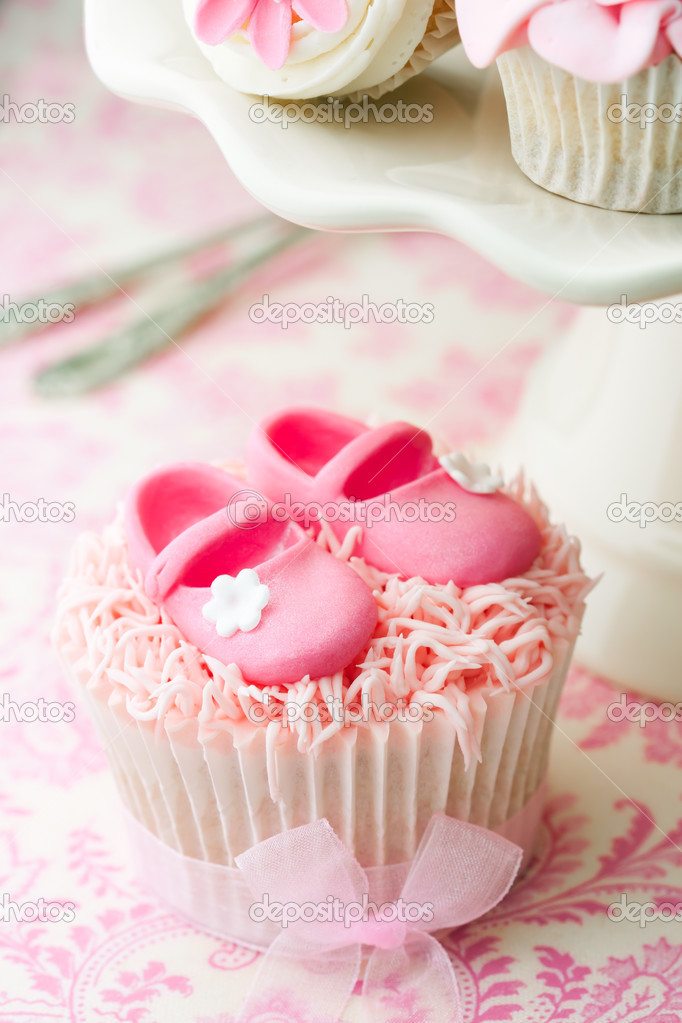 cupcakes for a baby shower stock photo ruthblack 3737778