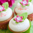 Stock Photo: Flower cupcakes