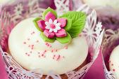 Bruiloft cupcakes — Stockfoto