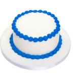 Blank birthday cake — Stock Photo
