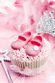 Princess cupcake — Stock Photo