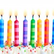 Birthday candles — Stok fotoğraf #3849211