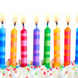 Birthday candles — Stockfoto #3849211