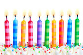 Birthday candles — Stockfoto