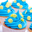 Smiley face cupcakes — Stock Photo