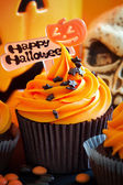 Happy Halloween cupcake — Stock Photo