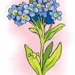 Stock Vector: Forget-me-nots