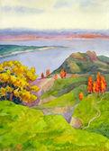 Höstens hills — Stockfoto
