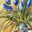 Stock Photo: Abstract flowers in a vase