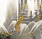 Samson and the Lion Fountain — Stock Photo