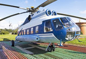 Helicopter in Russia — Stock Photo
