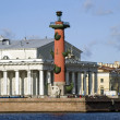 Rostral column and Old Stock Exchange — Stock Photo #2724675