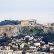 A view of Athens with the Acropolis — Stock Photo