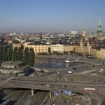Panorama van stockholm, Zweden — Stockfoto
